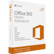Microsoft Office 365 Home: 5 Licenças (PC, Mac, Android e IOS) + 1 TB de HD virtual para cada licença