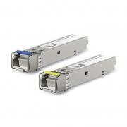 Módulo Gbic SFP Ubiquiti Single Mode SM Simplex LC 1.25Gbps, 3km - UF-SM-1G-S (Par)