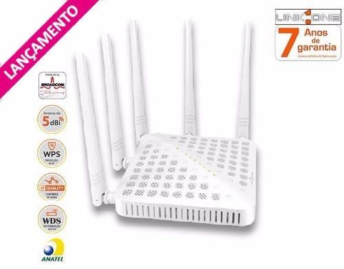 Roteador Wireless Ac 1200mbps Alto Ganho Dualband Link-One RWH1235AC  - TNTinfo Loja