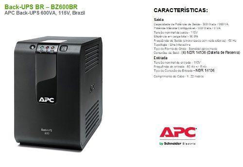 Nobreak Apc Microsol Back-ups 600va 115v/115v Mono Bz600 Br  - TNTinfo Loja