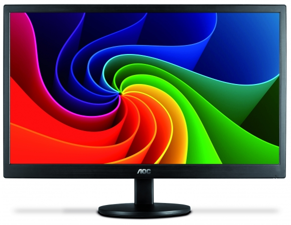 Monitor AOC LED 15.6 Slim Design 8ms e-Saver DCB Color Bust Eco-Mode USB E1670Swu  - TNTinfo Loja