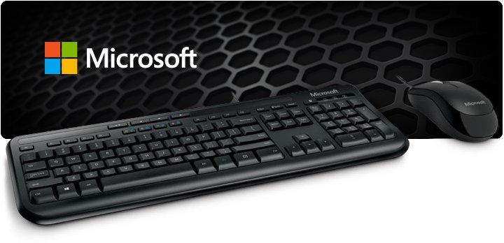 Kit Teclado e mouse Wired Desktop 600 - Microsoft  - TNTinfo Loja