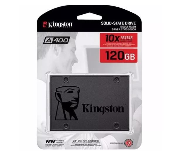 Ssd Kingston 120gb Sata 6gb/s 2.5 Pol. A400 500mb/s  - TNTinfo Loja