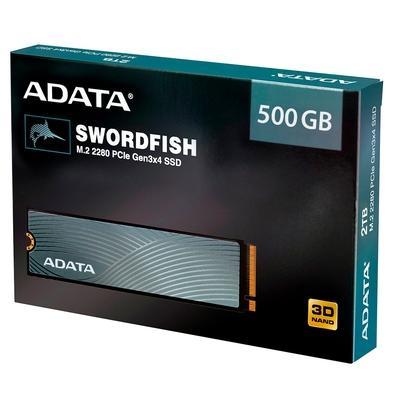SSD M.2 500GB Adata Swordfish ASWORDFISH 1800MB/s leitura, 1  - TNTinfo Loja