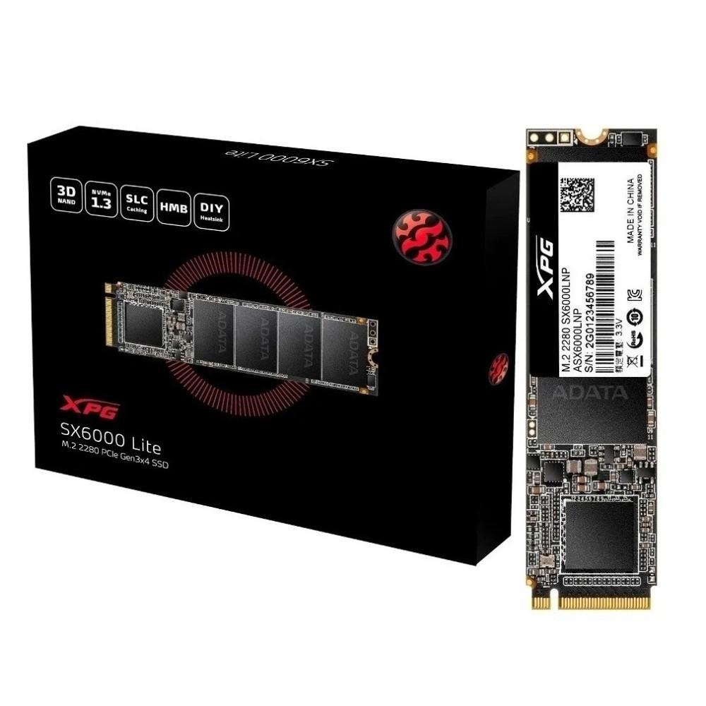 SSD M.2 Nvme 1TB Adata XPG SX6000 Lite, 1800MB/s leitura, 12  - TNTinfo Loja