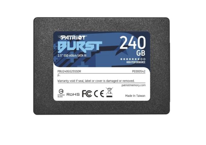 """Ssd Patriot Burst 240gb 2,5"""" Sata3 6Gb/s (similar a Sandisk   - TNTinfo Loja"""