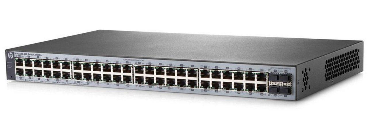 Switch Hp 1820 J9981a 48 10/100/1000 4-sfp L2 Gerenciável  - TNTinfo Loja