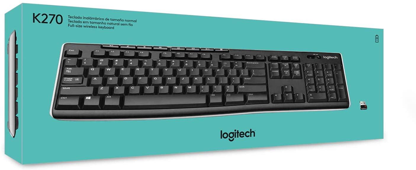 Teclado Logitech Wireless Preto K270  - TNTinfo Loja
