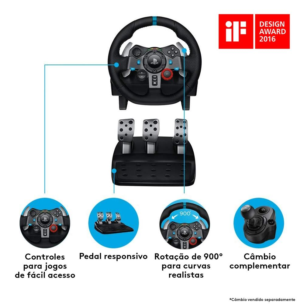 Volante Gamer Logitech G29 Driving Force 941-000111  - TNTinfo Loja