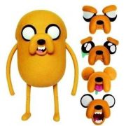 Aluguel Boneco Adventure Time Deluxe- Jake Troca Faces- 25 cm