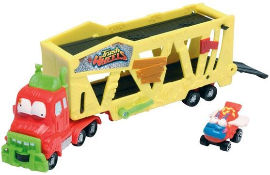 Aluguel Trash Wheels- Caminhão Cegonha com 1+ 3 carrinhos
