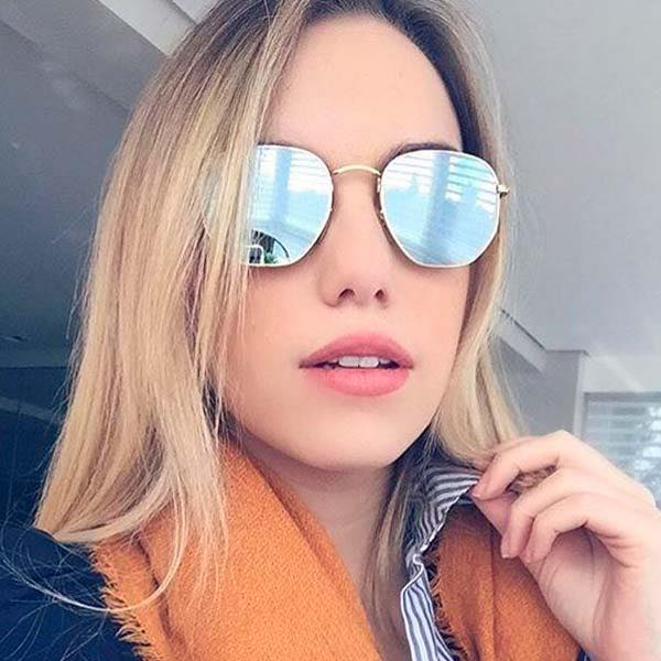 ÓCULOS RAY BAN HEXAGONAL PRATA - Lê Rosê Moda   Acessórios Femininos ffa1105b62