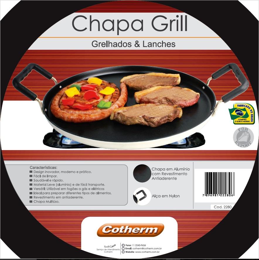 Chapa Grill  Multiuso e Antiaderente  - Topcom Eletro