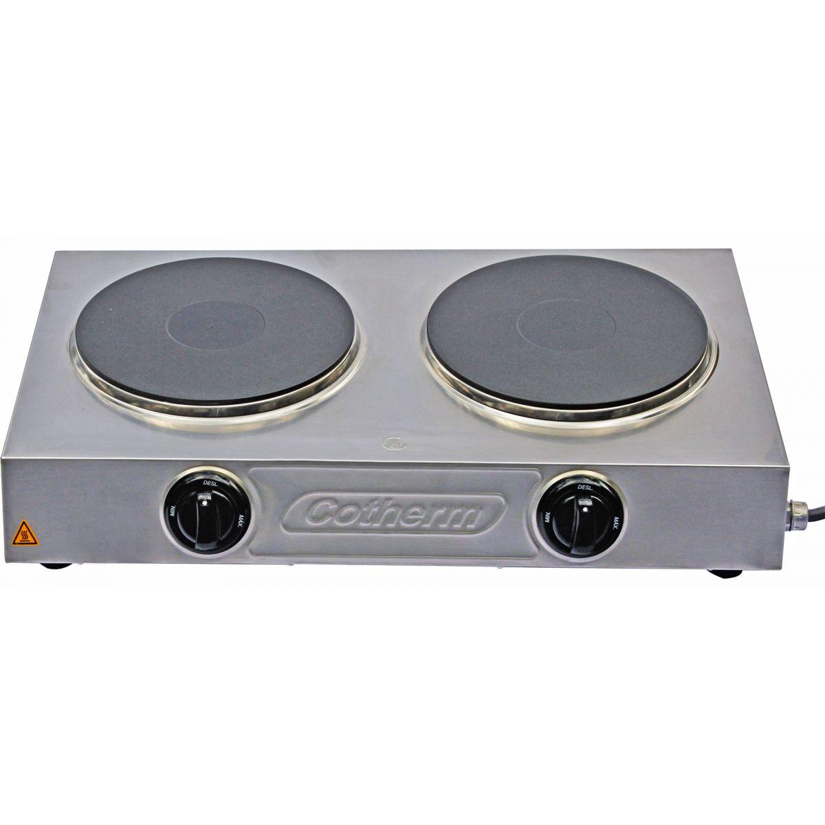 Hot Plate Profissional Ágata 2 Bocas 4000W Cotherm  - Topcom Eletro