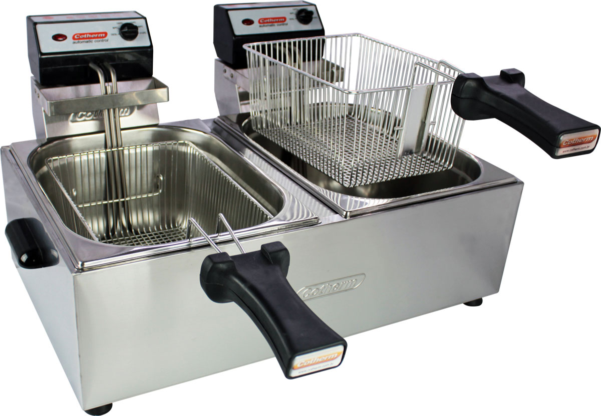 Fritadeira Elétrica Cotherm 2 Cubas 5 Litros