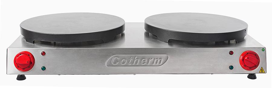 Panquequeira e Crepeira Profissional Dupla com Antiaderente Cotherm