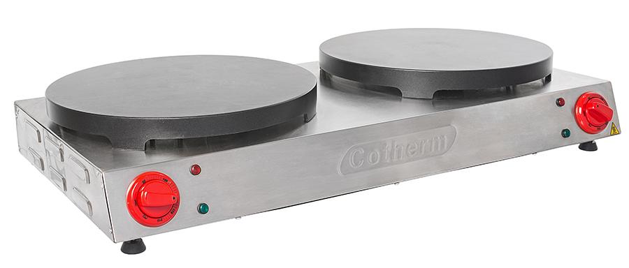 Panquequeira e Crepeira Profissional Dupla com Antiaderente Cotherm  - Topcom Eletro