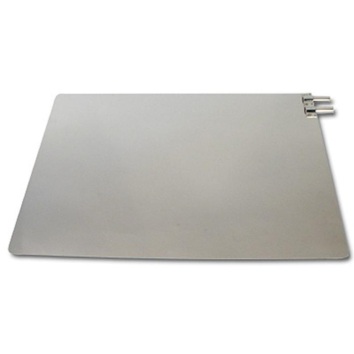 Placa Dispersiva em Aço Inox (com tomada dupla) - 18cm x 25 cm - Autoclavável