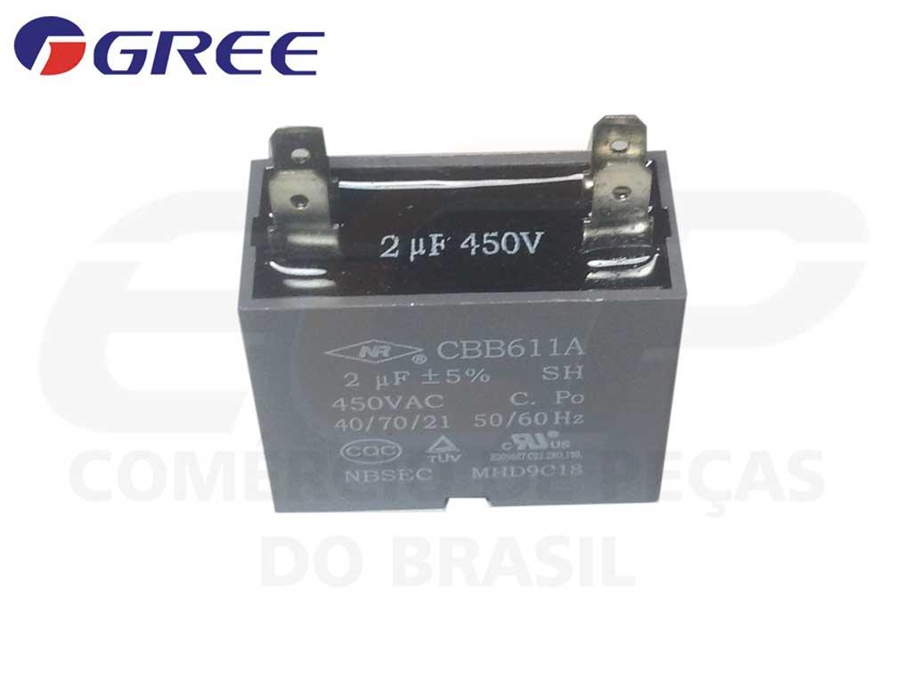 Capacitor 2 uF 450 VAC CBB61