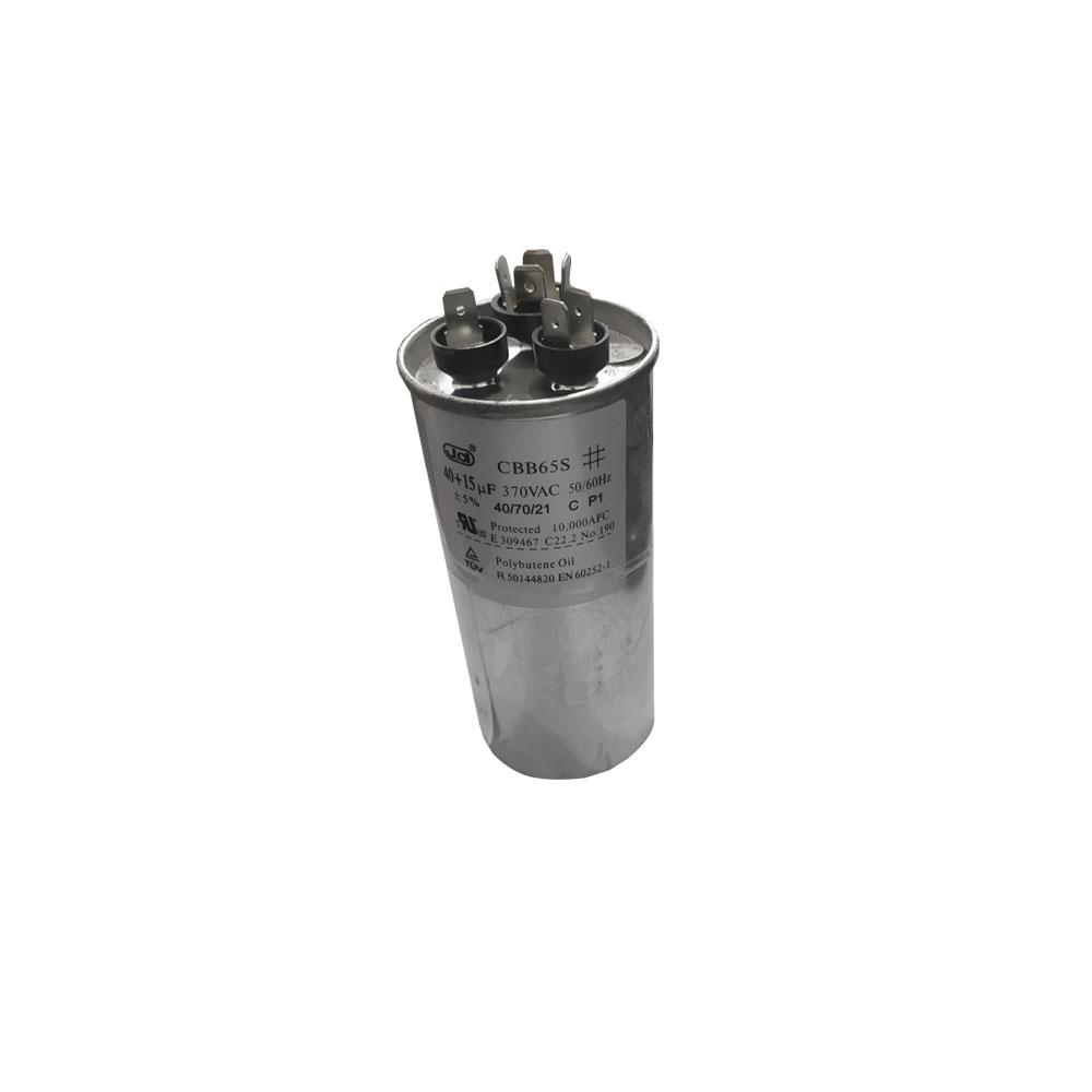 Capacitor 40+15 uF 370 VAC CBB65