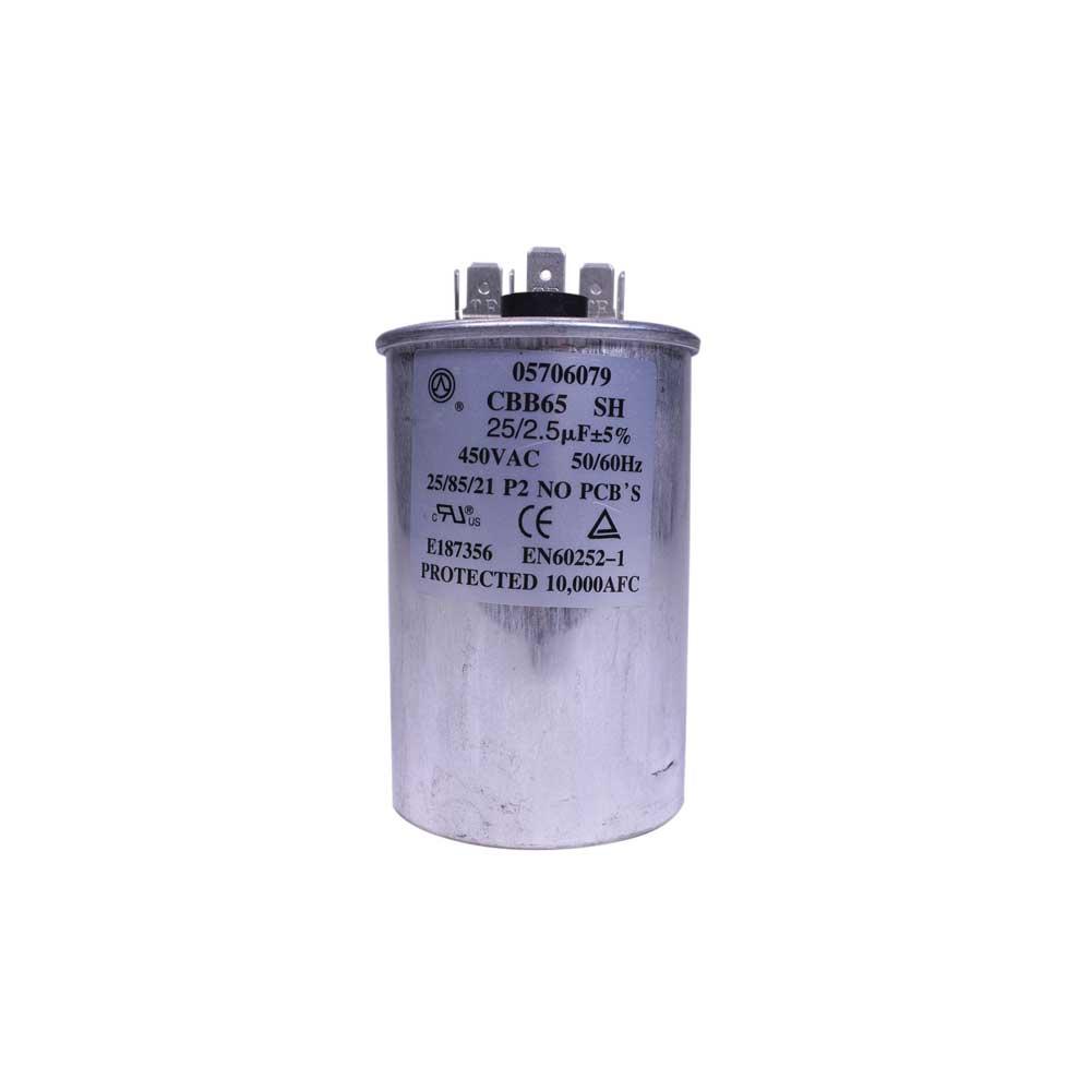 Capacitor Duplo 25+2,5uF 450VAC P2 Midea Springer Carrier Admiral 05706079