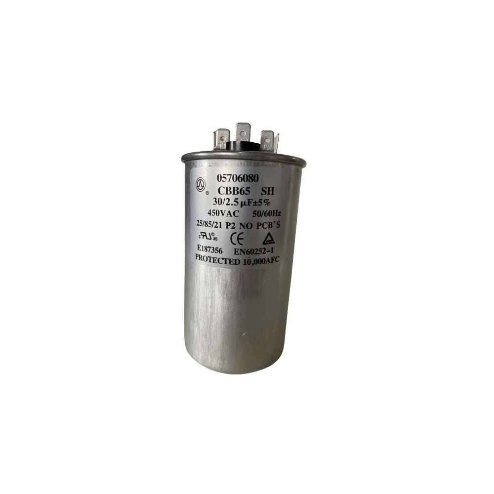 Capacitor Duplo 30+2,5uF 450VAC P2 Midea Springer Carrier Comfee Admiral 05706080