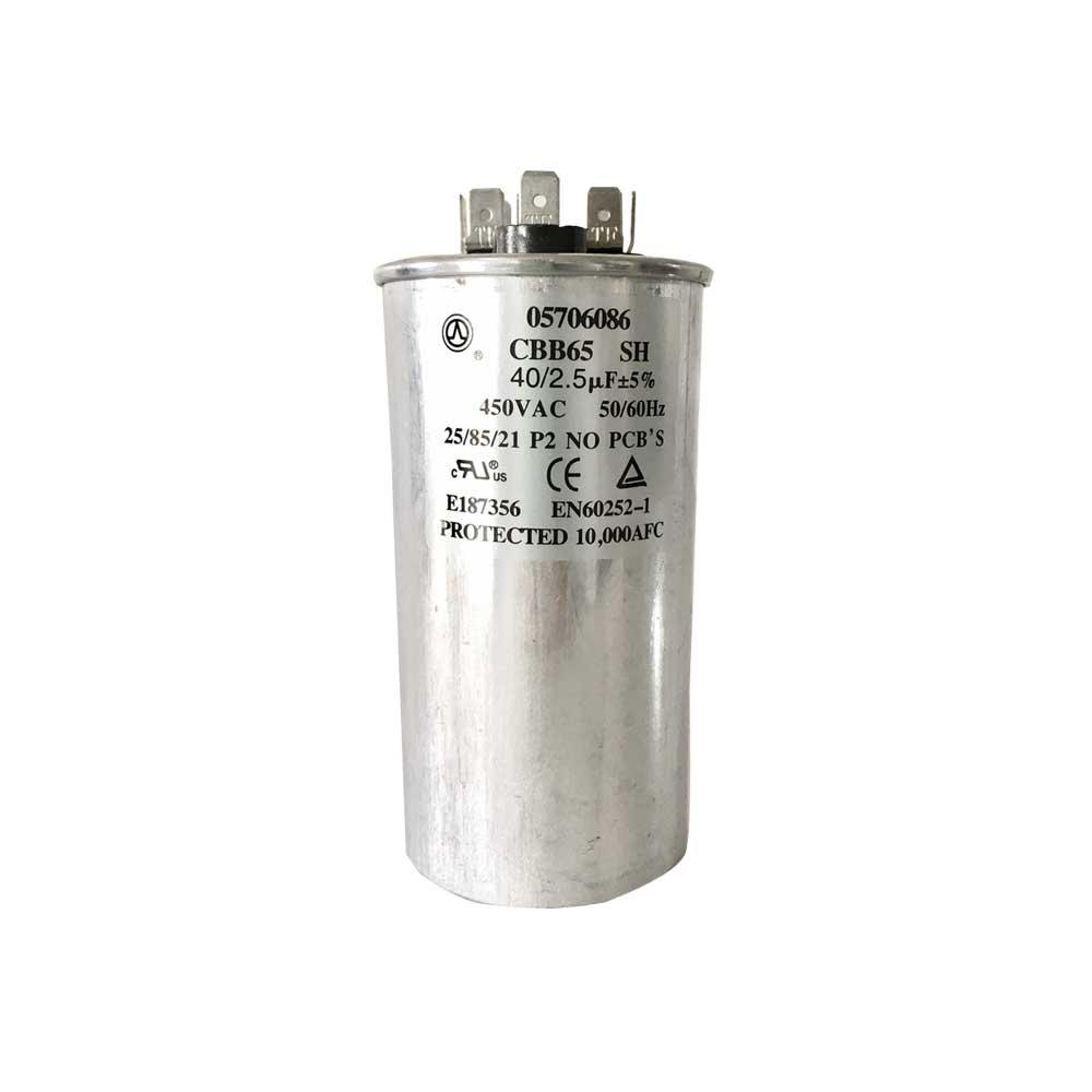 Capacitor Duplo 40+2,5uF 450VAC Midea Springer Carrier 05706086