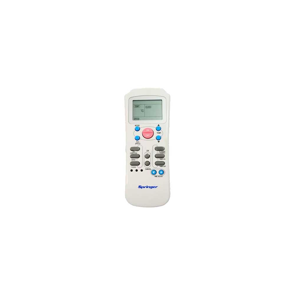 Controle Remoto Springer Split 7000 9000 12000 18000 22000 Quente e Frio 2033550A0450