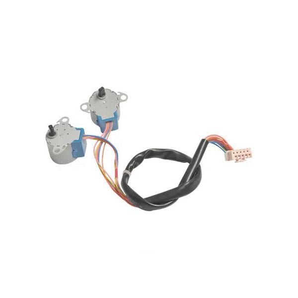 Kit Motor Vane Passo Swing - 2 Motores e Conectores 202400200004 Midea Springer Carrier Comfee Admiral