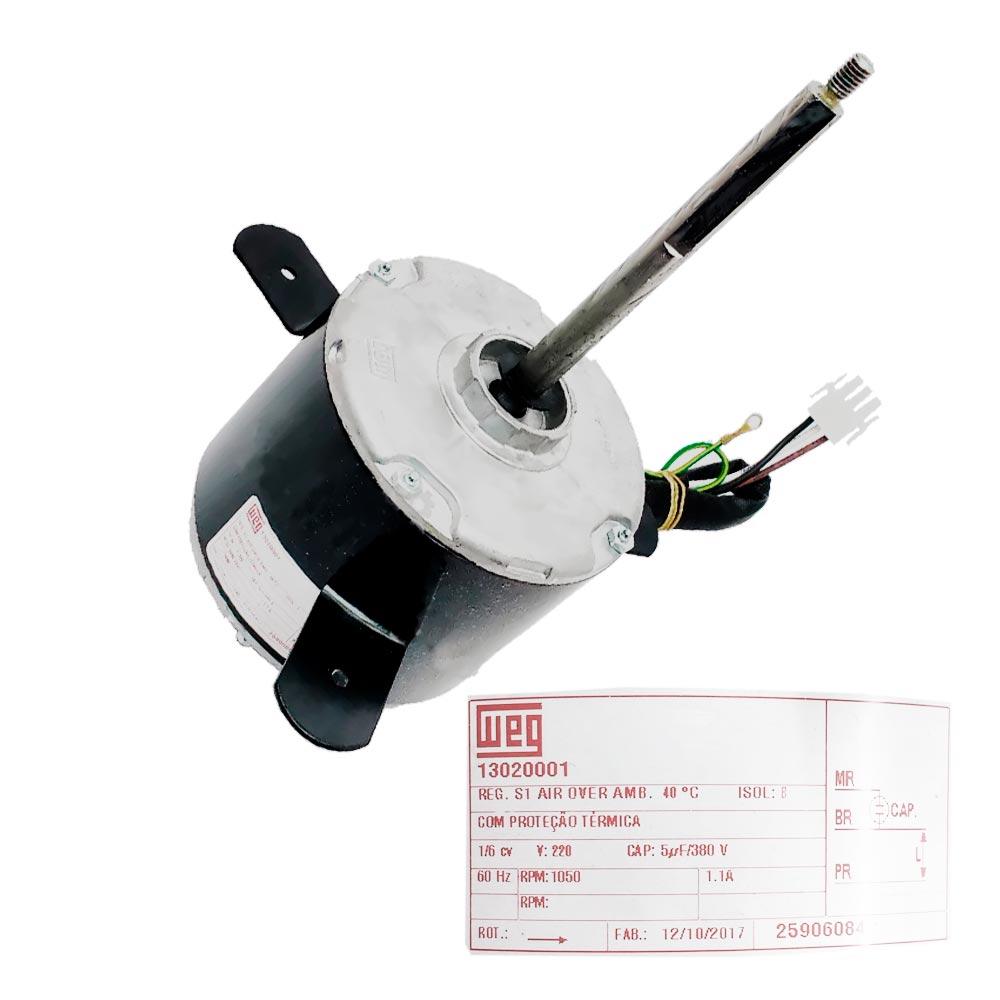Motor Ventilador Condensadora 220V 30K Btus 25906084 Springer Carrier
