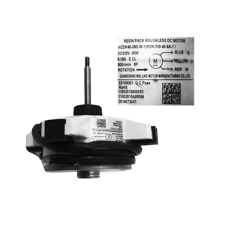Motor Ventilador Condensadora ZKFN-40-8-5-2 18000 Btus 38FVQA18C5 38FVCA18C5 11002015A00056 Carrier