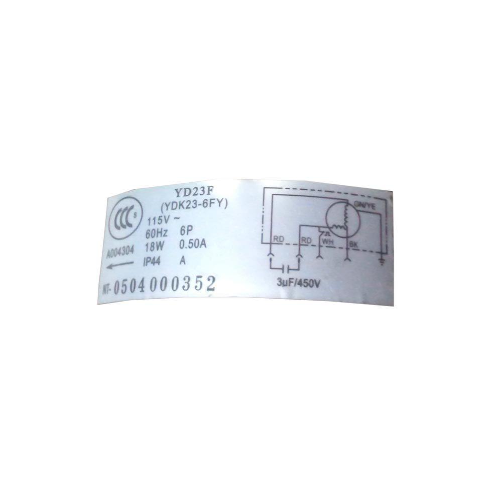Motor Ventilador Inferior Portatil YD23F GP8-12LA