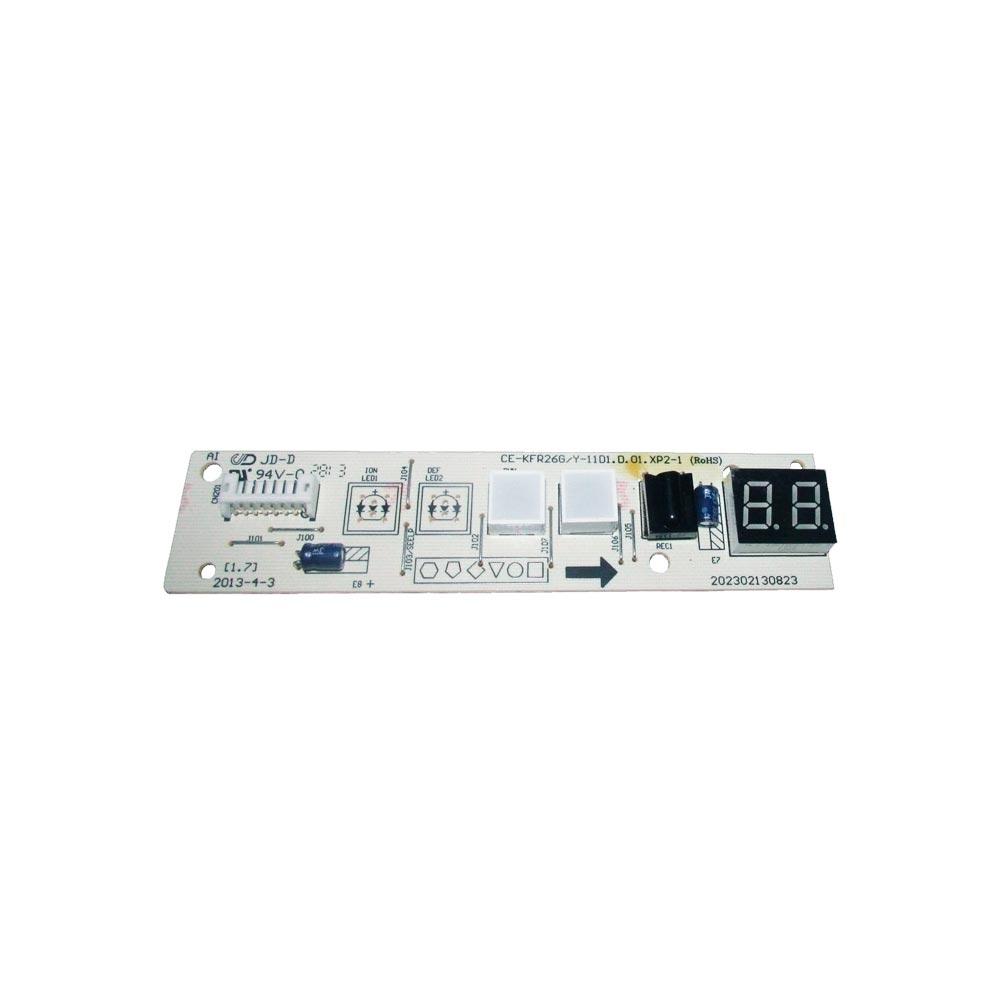 Placa Receptora Display 7000 7500 9000 12000 201332391278 Btus Comfee Admiral
