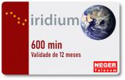 Cartão Pré Pago 600 minutos para Telefone via Satélite Iridium 9555