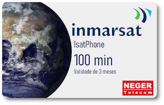 Cartão Pré Pago 100 minutos para Telefone via Satélite IsatPhone 2  - Celular Via Satélite