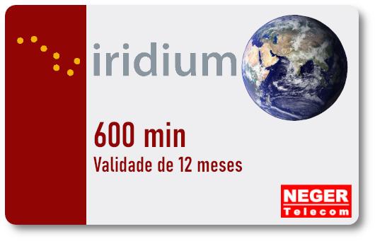 Cartão Pré Pago 600 minutos para Telefone via Satélite Iridium 9555  - Celular Via Satélite