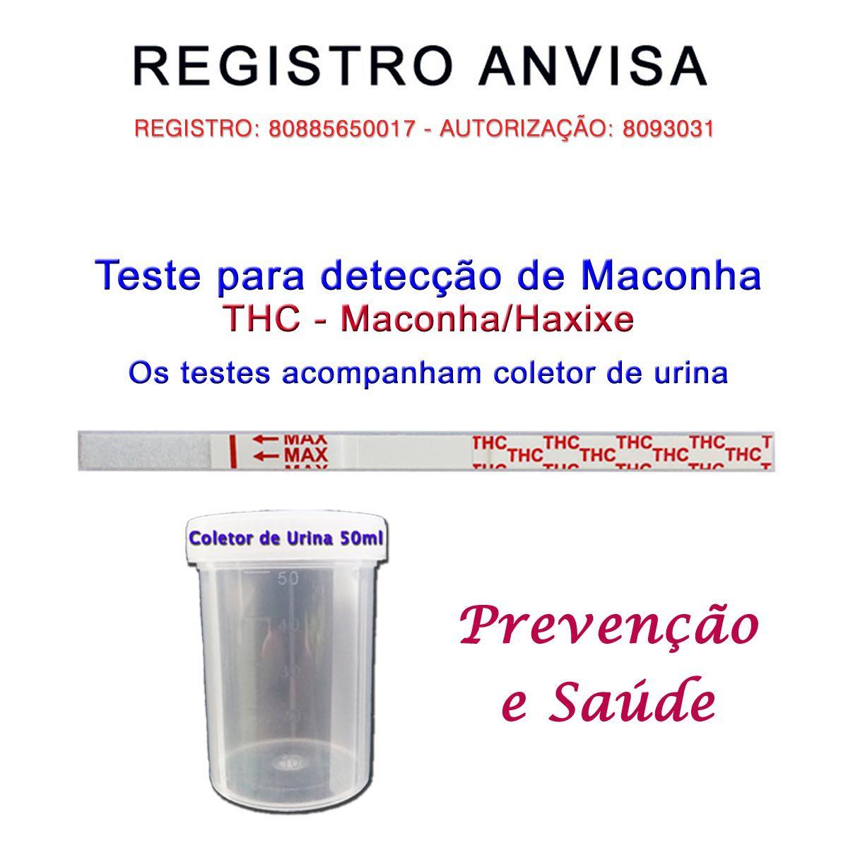 01 Kit para teste de THC  - Prevenção e Saúde