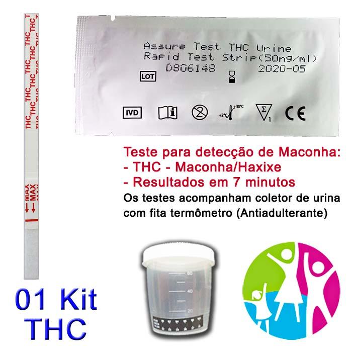 01 Kit para teste de THC com coletor de urina  - Prevenção e Saúde