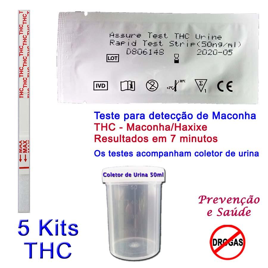 05 Kits para teste de THC  - Prevenção e Saúde