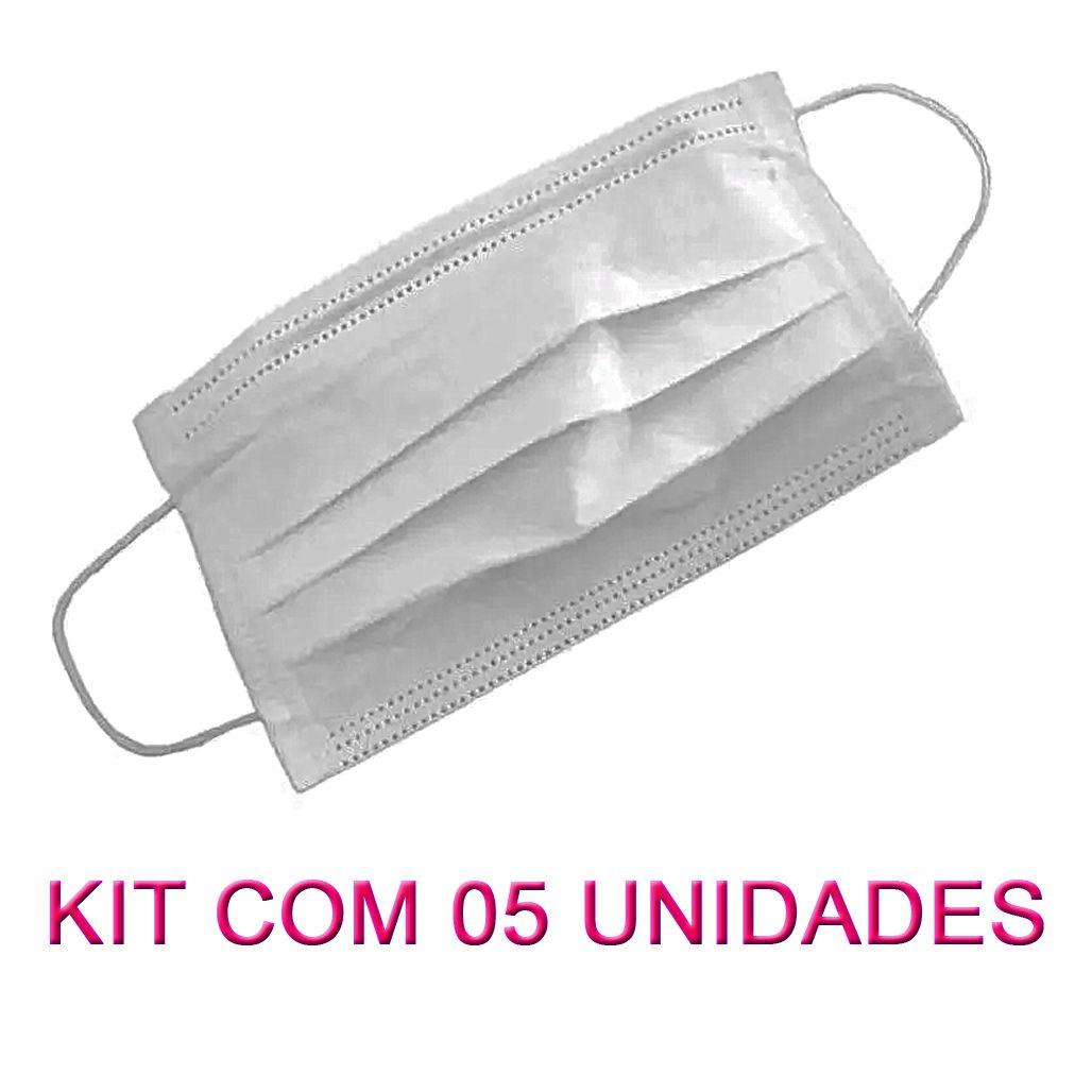 05 MÁSCARAS EM TNT BRANCO  - Testes Para Drogas e COVID-19. Máscaras e Como Parar de Beber e Fumar