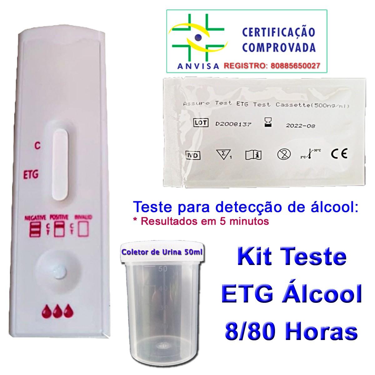 05 Testes Etg de Álcool Pela Urina  - Testes Para Drogas e COVID-19. Máscaras e Como Parar de Beber e Fumar