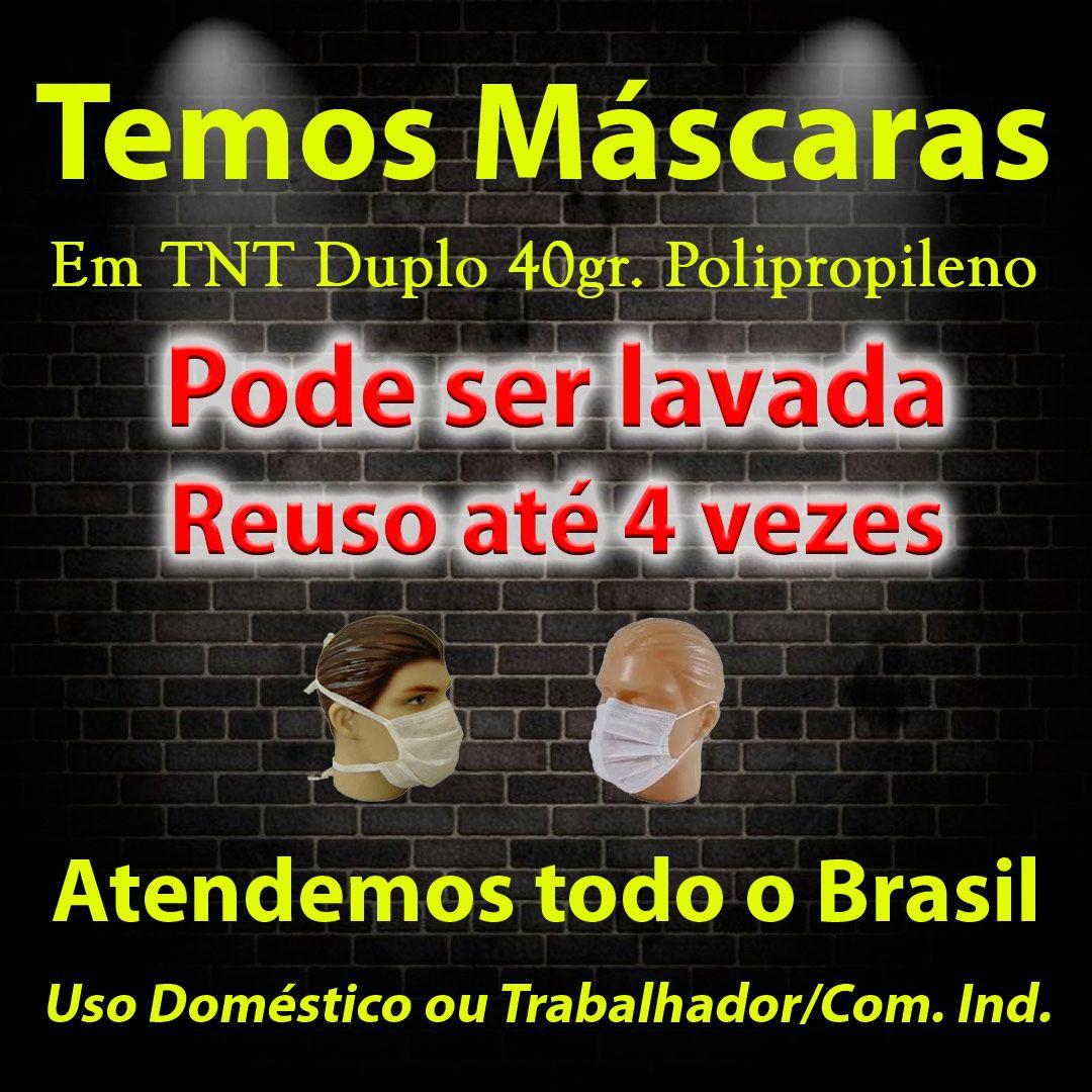 1000 Máscaras em TNT duplo branco  - Testes Para Drogas e COVID-19. Máscaras e Como Parar de Beber e Fumar