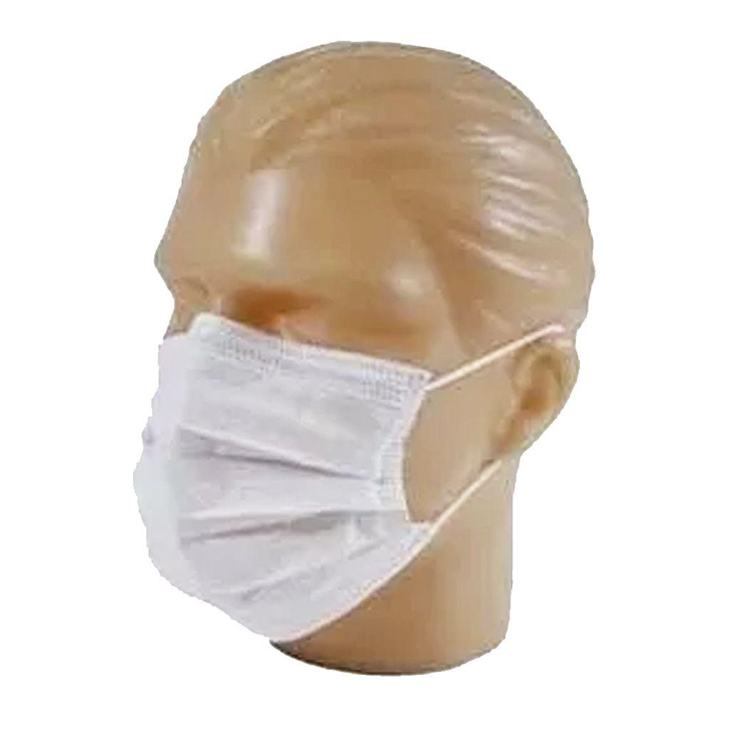 100 Máscaras em TNT duplo branco  - Testes Para Drogas e COVID-19. Máscaras e Como Parar de Beber e Fumar