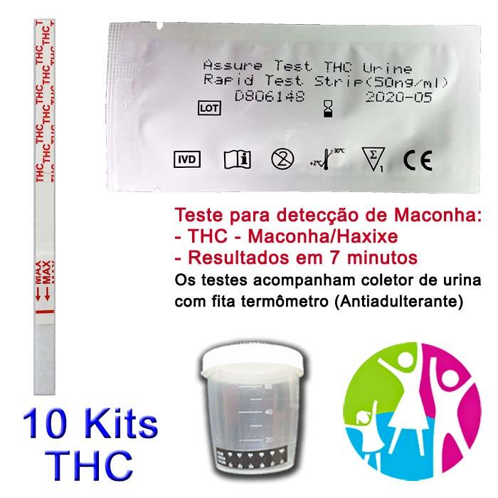 10 Kits para teste de THC com coletor de urina  - Prevenção e Saúde
