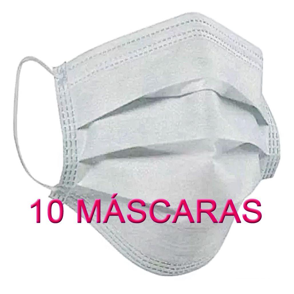 10 Máscaras em TNT duplo branco  - Testes Para Drogas e COVID-19. Máscaras e Como Parar de Beber e Fumar