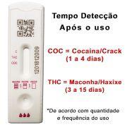 01 Kit para auto teste de 2 substâncias - COC+THC - Compre e faça em casa. Resultado em 10 minutos