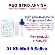 01 Kit para teste 8 substâncias