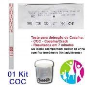 01 Kit para teste de COC-CRACK com coletor de urina
