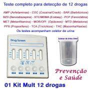 01 Kit para testes de 12 substâncias
