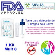 01 Kit para testar oito substâncias com coletor